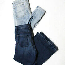 Hudson 7 for All Mankind Womens Mid Rise Jeans Blue Size 24 Lot 2 Photo