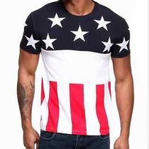 Hudson American Flag T-Shirt  Photo