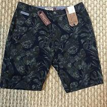 Hudson and Barrow Mens Casual Stretch Shorts Sz 36 Pineapple Camouflage Print Photo