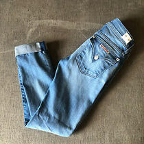 Hudson Ankle Ginny Stretch Flap Pocket Womens Jeans Size 23 Photo