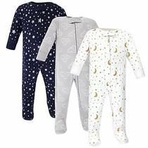 Hudson Baby Baby Cotton Sleep and Play Navy Stars Moons Size 0.0 Kkug Photo