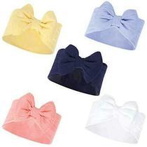 Hudson Baby Baby Girls Big Bow Headband Blue/yellow 5-Pack Size 0.0 Zvb1 Photo
