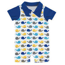 Hudson Baby Boy Whale Romper Photo