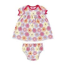 Hudson Baby Floral Dress and Diaper Cover  6-9 Months Photo
