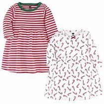 Hudson Baby Girl's Cotton Dresses Candy Cane 9-12 Months Photo