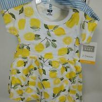 Hudson Baby Girl's Cotton Dresses Lemons 3-6 Months Photo