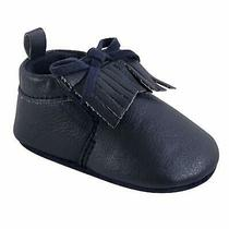 Hudson Baby Moccasin Booties Navy Size 6-12 Months M Us Infant Photo