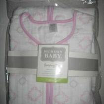 Hudson Baby Muslin Sleeping Bag Pink Damask 12-18 Months Photo