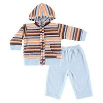 Hudson Baby Newborn Boys' Hoodie and Pant Set - Blue Photo