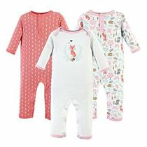 Hudson Baby Unisex Baby Cotton Coveralls Woodland Fox 6-9 Months Photo