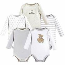 Hudson Baby Unisex Baby Cotton Long-Sleeve Bodysuits Bear 0-3 Months Us Photo