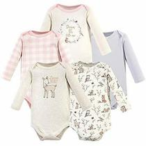 Hudson Baby Unisex Baby Cotton Long-Sleeve Bodysuits Enchanted Forest 18-24 M... Photo