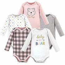 Hudson Baby Unisex Baby Cotton Long-Sleeve Bodysuits Girl Bear 3-6 Months Us Photo