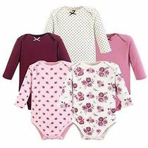 Hudson Baby Unisex Baby Cotton Long-Sleeve Bodysuits Rose 12-18 Months Photo