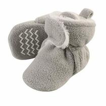 Hudson Baby Unisex Baby Cozy Fleece and Sherpa Booties Neutral Gray 0-6 Months Photo