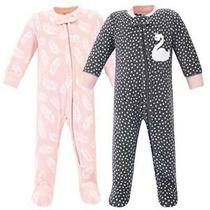 Hudson Baby Unisex Baby Fleece Sleep and Play Swan Size 0-3 Months 1hss Photo