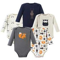 Hudson Baby Unisex Baby Long Sleeve Cotton Forest 5-Pack Size 0-3 Months (3m) Photo