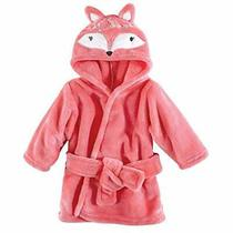 Hudson Baby Unisex Baby Plush Animal Face Robe Boho Fox One Size 0-9 Months Photo