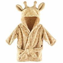 Hudson Baby Unisex Baby Plush Animal Face Robe Giraffe One Size 0-9 Months Photo