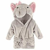 Hudson Baby Unisex Baby Plush Animal Face Robe Pretty Elephant One Size 0-9 M... Photo