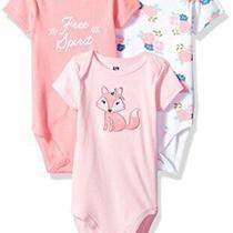 Hudson Baby Unisex Cotton Bodysuits Floral Fox 18-24 Months Photo