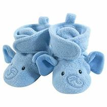 Hudson Baby Unisex Cozy Fleece Booties Blue Elephant 6-12 Months Photo