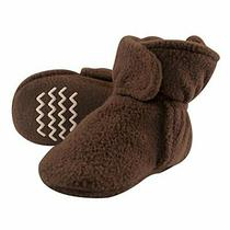 Hudson Baby Unisex Cozy Fleece Booties Brown 6-12 Months Photo