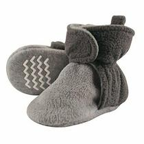 Hudson Baby Unisex Cozy Fleece Booties Charcoal Heather Gray 18-24 Months Photo