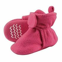 Hudson Baby Unisex Cozy Fleece Booties Dark Pink 18-24 Months Photo