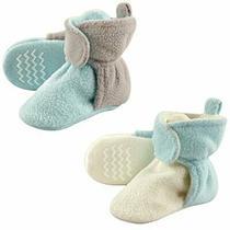 Hudson Baby Unisex Cozy Fleece Booties Mint Gray 4 Toddler Photo