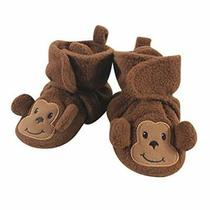 Hudson Baby Unisex Cozy Fleece Booties Monkey 0-6 Months Photo