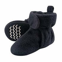 Hudson Baby Unisex Cozy Fleece Booties Navy 3 Toddler Photo