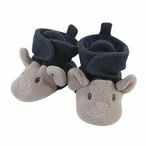 Hudson Baby Unisex Cozy Fleece Booties Navy Gray Elephant Size 0.0 Cyxd Photo