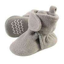 Hudson Baby Unisex Cozy Fleece Booties Neutral Gray 0-6 Months Photo