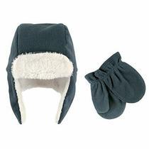 Hudson Baby Unisex Fleece Trapper Hat and Mitten Set Coronet Blue Toddler 18-... Photo