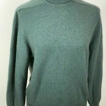 Hudson Bay Company Ladies 100% Cashmere Turtleneck Sweater Green Size L Photo