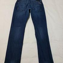 Hudson Blake Slim Straight Stretch Denim Blue Jeans Mens 34 X 32 - M5637  Photo