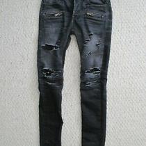 Hudson Blinder Biker Moto Distressed Jeans Size 29 X 34  Men Black / Gray Photo