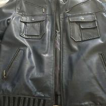Hudson Blue Leather Jackets 3xl Photo