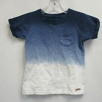 Hudson Boys Blue & White Dip Dyed Short Sleeve Tee Shirt Size 4t Photo