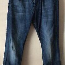 Hudson Byron Men Medium Wash 5 Pocket Straight Jeans Trousers 33 X 28.5 198 Photo