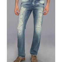 Hudson Byron Selvedge Denim Mens Slim Straight Jeans Made in Usa 270 New 34x34 Photo