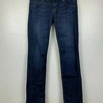 Hudson Carly Mid Rise Straight Dark Blue Stretch Denim Jeans Size 28x31 Photo