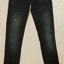 Hudson Collin Distressed Straight Leg Lightweight Skinny Jeans Size 26 X 28 Photo