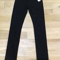 Hudson Collin Flap Skinny Black Jeans Size 26 Nwt 198 Photo