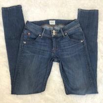 Hudson Collin Size 24 Flap Pocket Skinny Jean Faded Blue Women's Size 24 Photo