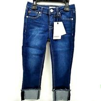 Hudson Cropped Jessa Skinny Super Stretch Crop Roll Cuff Denims Girls 6 Nwt 45 Photo