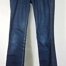 Hudson Dark Wash Straight Leg Denim Blue Jeans Ladies Juniors 2 Slim 28w X 33l Photo