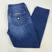 Hudson Denim Jeans Women's 30 Blue Faded 5-Pocket Zip Fly Casual Cotton Blend Photo
