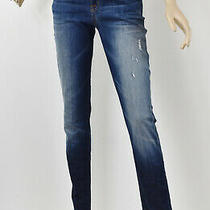 Hudson Distressed Blue Wash Kent Skinny Whiskered Faded Stretch Jeans 27/28 Photo
